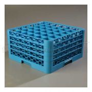 with 4 Extender Polypropylene Blue OptiClean 36 Compartment Glass Rack -- 1 each