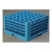 without Extender Polypropylene Blue OptiClean 36 Compartment Glass Rack -- 1 each
