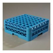 with 2 Extender Polypropylene Blue OptiClean 49 Compartment Glass Rack -- 1 each