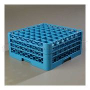 with 3 Extender Polypropylene Blue OptiClean 49 Compartment Glass Rack -- 1 each
