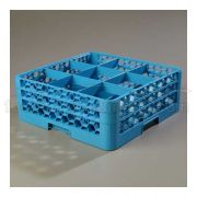 with 2 Extender Polypropylene Blue OptiClean 9 Compartment Glass Rack -- 1 each