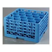with Integrated Extender Polypropylene Blue OptiClean NeWave 20 Compartment Glass Rack -- 1 each