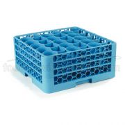 with 3 Extender Polypropylene Blue OptiClean NeWave 30 Compartment Glass Rack -- 1 each