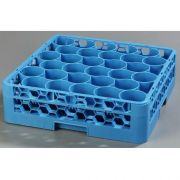 with Integrated Extender Polypropylene Blue OptiClean NeWave 30 Compartment Glass Rack -- 1 each