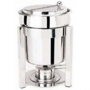Eastern Tabletop P2 Collection Stainless Steel Sauce Marmite with Hinged Lid, 7 Quart -- 1 each.