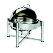 Eastern Tabletop Pillard Collection Stainless Steel Round Rolltop Chafer, 8 Quart -- 1 each.