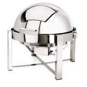 Eastern Tabletop P2 Collection Stainless Steel Round Rolltop Chafer, 8 Quart -- 1 each.