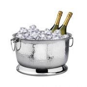 Eastern Tabletop Stainless Steel Double Wall Insulated Hammered Beverage Bowl, 16 x 16 x 10 inch -- 1 each.