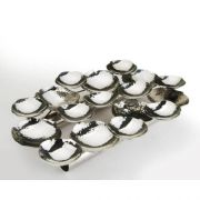 Eastern Tabletop Stainless Steel Multi Hors Doeuvres Hammered Sectional Platter, 18 x 12 inch -- 1 each.