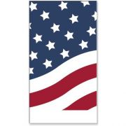 Dinex Stars and Stripes Design 2 Ply Decorative Paper Holiday  Dinner Napkin, 15 x 17 inch -- 1000 per case.
