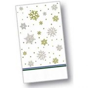 Dinex Silver and Gold Design 2 Ply Decorative Paper Holiday  Dinner Napkin, 15 x 17 inch -- 100 per case.