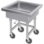 Stainless Steel Fabricated Mobile Sink 22x22x8 inch -- 1 each.