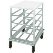 Poly Top Mobile Can Rack - Half Size, Holds 54 #10 Size Cans Or 72 #5 Cans -- 1 each.
