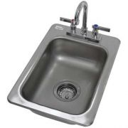 One Compartment Hand Use Drop-in Sink, Overall Size : 13 x 19 inch -- 1 each.