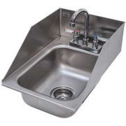 One Compartment Hand Use Drop-in Sink Include Tapered Splash on Rear and Both Sides Size : 13 x 19 inch -- 1 each.
