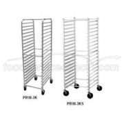 Aluminum, 18 Pan Rack - Knock Down, Front Load inch -- 1 each.