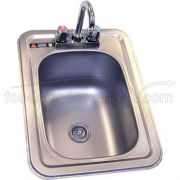 Aero 304 Stainless Steel NSF Hand Sink, 14 1/2 x 19 3/4 x 10 inch -- 1 each.