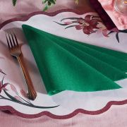 Hoffmaster 820-D37 Linen-Like Solid Hunter Green Color Napkin Band 16 x 16 inch Flat Pack, 4 packs of each 125 -- 500 per case.