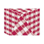 Hoffmaster 4108-DG11 Red Gingham Printed 2 Ply Tissue 1 Ply Poly Table cover - Banquet Size, 54 x 108 inch -- 25 per case.