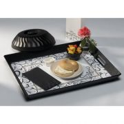 Hoffmaster 905C-FD354 Scroll Roomservice Traymat, 13 3/8 x 17 7/8 inch -- 1000 per case.