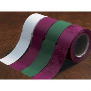 Hoffmaster D24 Specialty Sanitary Burgundy Wrap N Roll Napkin Band, 1.5 x 4.25 inch, 20 rolls of each 250 bands -- 5000 bands per case.