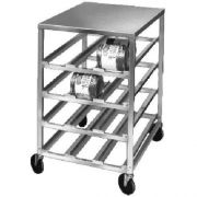 Channel Manufacturing Aluminum Half Size Mobile Can Storage Rack with Stainless Top, 43 x 25 3/4 x 35 1/4 inch -- 1 each.