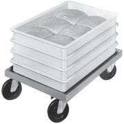 Channel Manufacturing Aluminum Dough Box Dolly, 7 1/2 x 17 3/4 x 25 1/4 inch -- 1 each.