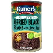 Kuners Beans, Southwestern Refried Black Beans with Lime Juice , 15 ounce -- 12 per case