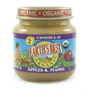 Earths Best 2nd Stage Organic Apple and Plum Fruit, 4 Ounce -- 10 per case