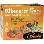 Pamelas Whenever Oat Peanut Butter Chocolate Chip Bar, 7.05 Ounce -- 6 per case.