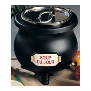 Black Speckled Bon Chef Sandstone Electric Soup Kettle, 13 1/2 x 14 inch -- 1 each.