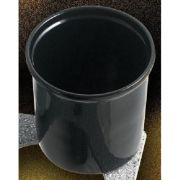 Black Bon Chef Sandstone Dressing Container with Handle, 6 1/4 x 6 3/4 inch -- 1 each.