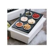 Red Bon Chef Sandstone Single Insulated Ice Station, 16 3/4 x 24 3/4 x 8 1/4 inch -- 1 each.