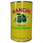 Mancini Roasted Green Peppers - 48 oz. can, 12 cans per case