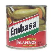 Embasa  Whole Jalapeno Pepper With Escabeche, 12 Ounce -- 12 Case