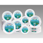 AJM Packaging Uncoated Green Label Paper Plate, 9 inch -- 1000 per case.