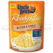 Mars Uncle Bens Butter and Garlic Ready Rice, 8.8 Ounce -- 12 per case.