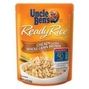 Mars Uncle Bens Chicken Whole Grain Brown Ready Rice, 8.8 Ounce -- 12 per case.