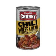 Campbells CHUNKY Roadhouse Beef and Bean Chili - 19 oz. can, 12 per case