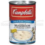 Campbells Cream of Mushroom Soup with Roasted Garlic- 10.75 oz. can, 12 per case
