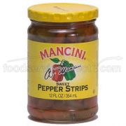 Mancini Sweet Pepper Strips - 12 oz. jar, 12 jars per case