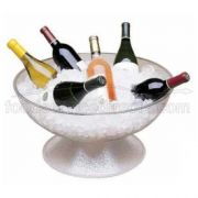 Pebbled Cambro Pedestal Punch Bowl, 23 inch -- 1 each.