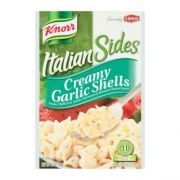 Knorr Creamy Garlic Shell Italian Sides Noodle and Sauce, 4.9 Ounce -- 12 per case.