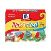 Mccormick Assorted Food Colors and Egg Dye Seasoning, 1 Fluid Ounce -- 144 per case.