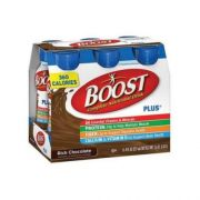 Boost Plus Rich Chocolate Complete Nutritional Drink, 8 Fluid Ounce - 6 per pack -- 4 packs per case.