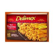 Delimex Beef Taquito Appetizer - 12 per pack -- 8 packs per case.