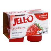 Jell O Ready To Eat Strawberry Gelatin - 4 per pack -- 6 packs per case.