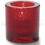 Hollowicks Ruby Jewel Thick Tealight Glass Lamp, 2 7/8 inch Height -- 1 each.