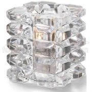 Hollowicks Clear Faceted Cube Votive Glass Lamp, 3 1/4 inch Height -- 1 each.