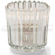 Hollowicks Clear Ribbed Unique Tealight Glass Lamp, 2 1/2 inch Height -- 1 each.